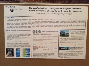 My poster at the Penrose/Chapman conference - engaging students with science content and communication