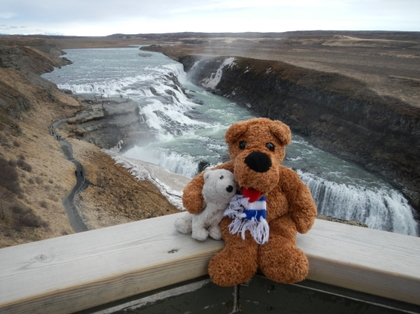 The Nittany Lion and Little Baik - new friends in Iceland!