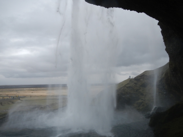 A photo I took as I worked my way behind the waterfall - also thinking that where I was standing was once under the ocean.