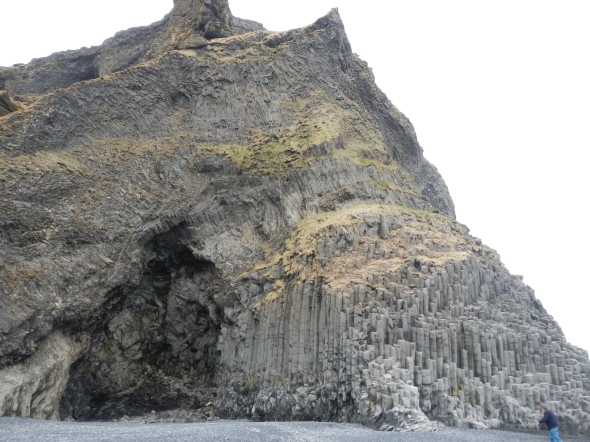 This columnar basalt formation will eventually erode through the middle and become a sea arch.