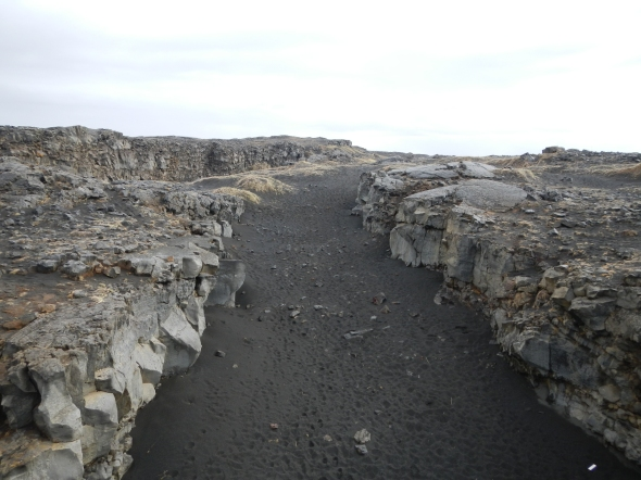 """Standing in the middle of the mid-ocean ridge (now you don't get to say that every day!).  The view is looking """"inland"""" towards the north."""