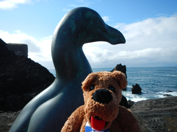 I have so many fun photos of the Nittany Lion around Iceland.  Here is one of my favorite - the Lion with the Great Auk statue.