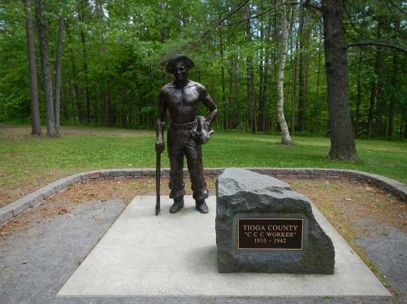 This park did an excellent job with signs, a statue, and informational video educating park visitors as to the important role of the Civilian Conservation Corps played in the history of this park.