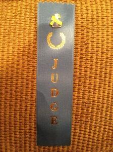 My judging ribbon I wore during the day! I can't wait to display this in my office - so happy to have helped!