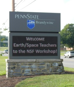 A welcome sign for the workshop participants!