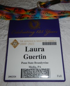 My conference name badge, complete with a colorful lanyard.