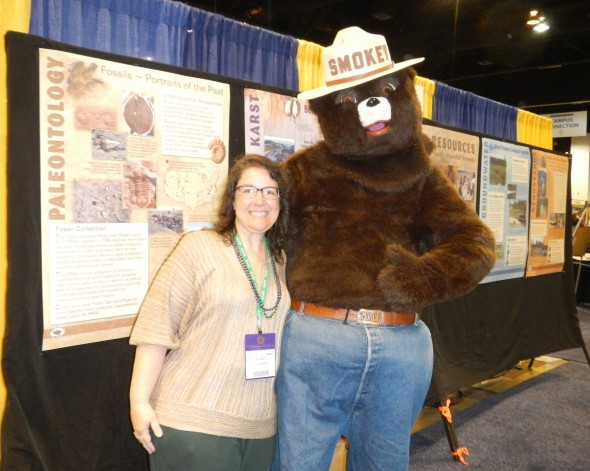 That's me, with Smokey Bear  (I never knew he was so tall!)