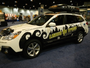 Wrapped Subaru for Leave No Trace