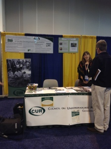 Booth for the Council on Undergraduate Research, one of the many organizations in the Exhibit Hall