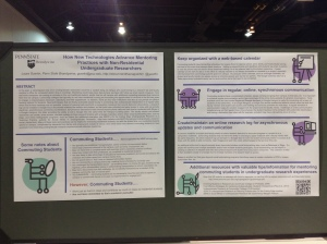 My poster on display in the Poster Hall at booth #316