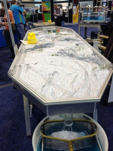 Streambed for modeling water flow (or, fun in a sandbox!) - one of the exhibitors at GSA