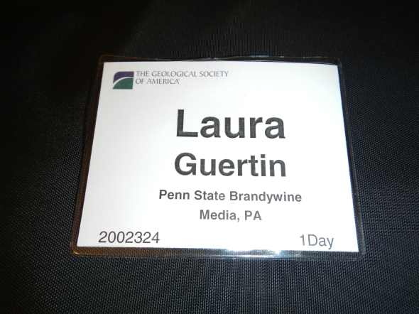 My name badge for NEGSA