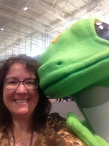 A selfie with the Geico Gecko in the NSTA Exhibit Hall!