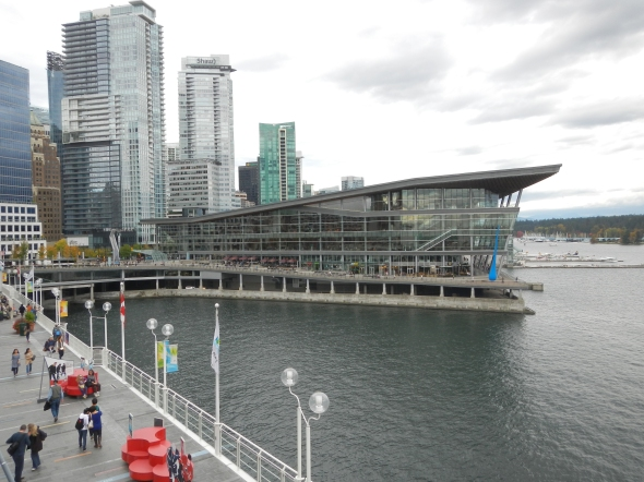 Convention center, on the water, with sea planes right next to it!