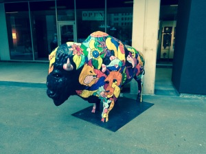 The Nature Conservancy of Oklahoma welcomed its very own Spirit of the Buffalo public art project