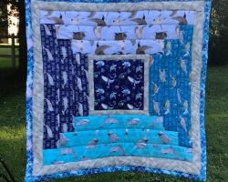 Quilt with ocean fabrics
