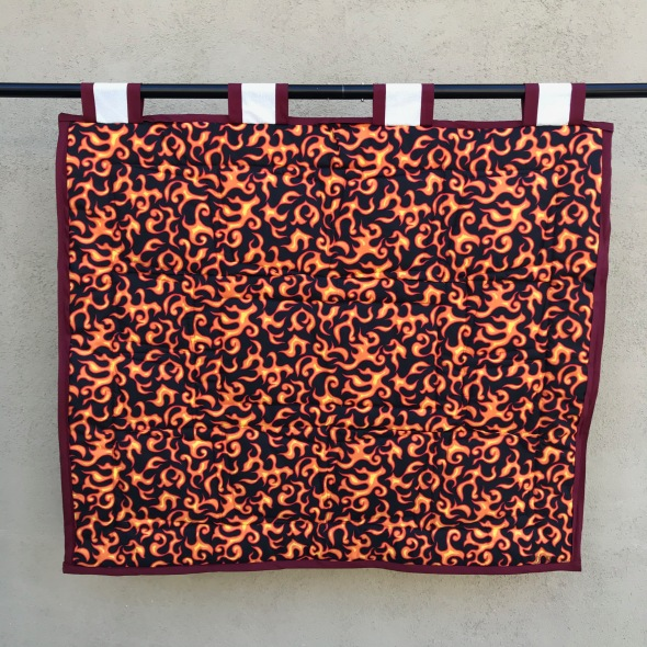 back of quilt - fire/flame pattern