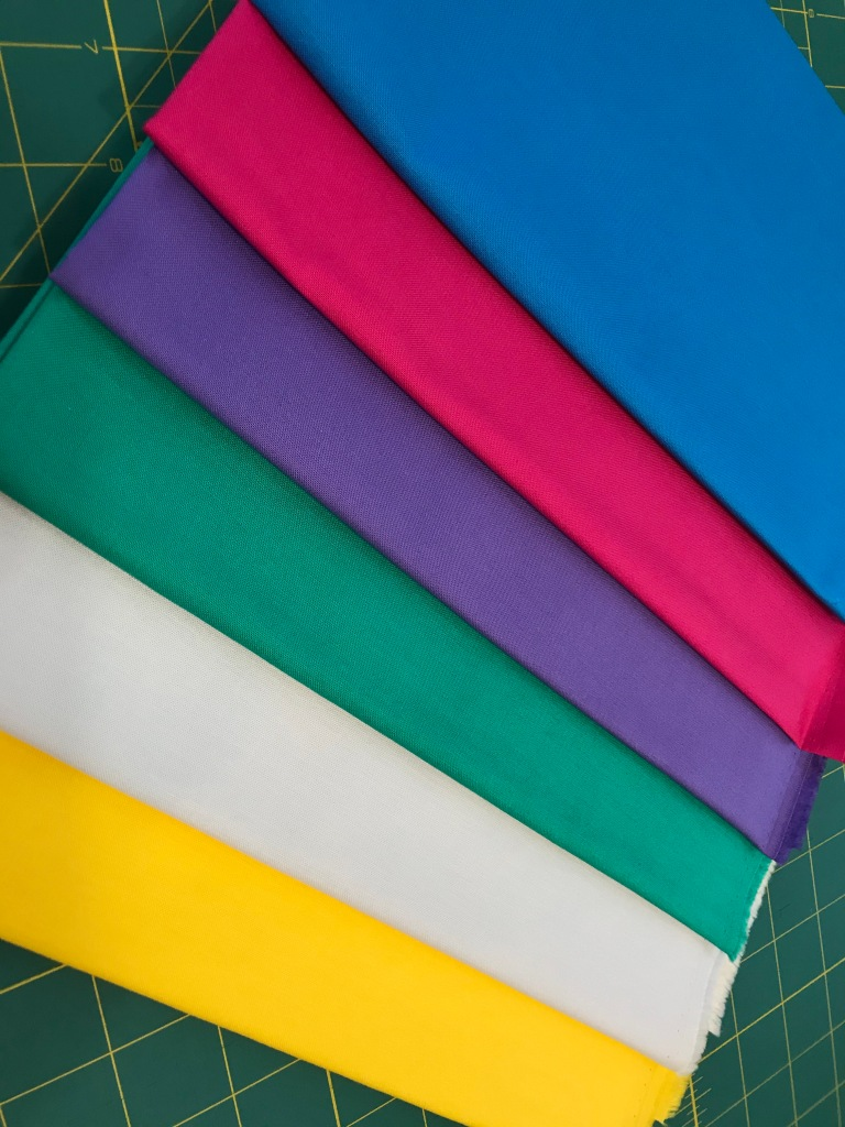 color palette for Stripes Mini Quilt Challenge