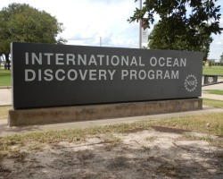 Sign at the entrance to the IODP offices at Texas A&M University