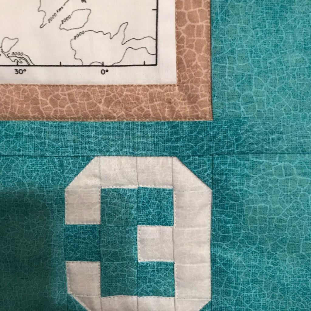 Zoomedin lower-right corner of quilt